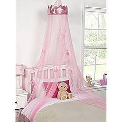 princesa de dosel de la cama de la corona, cambio de imagen chicas dormitorio, 30cmx230cm, rosa