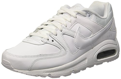 Nike Air Max Command Leather, Baskets Basses Homme Blanc Cassé (Weiß White/Metallic Silver 102)