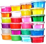 Brite Toys 24PCS Crystal Slime Clay, Slime Making Kit Clear Putty Mud Toys For Children Kids Including DIY Mou