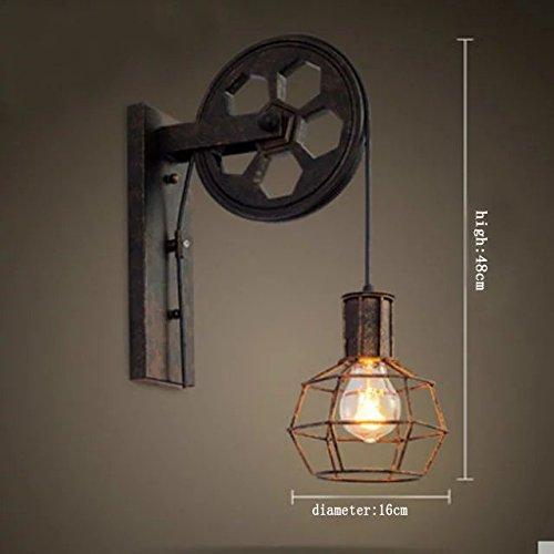 paese americano creativo di design camera da letto disimpegno comodino vetro vintage lampada lampade bar (2 Ferro Loft)