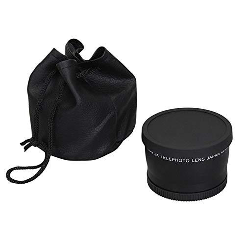 Nikon Ir-filter (52mm 58mm 2.0X Teleobjektiv für Nikon D90 D80 D700 D3000 D3100 D3200 D5000 D5100 D5200 18-55mm DSLR-Kameras - Schwarz)
