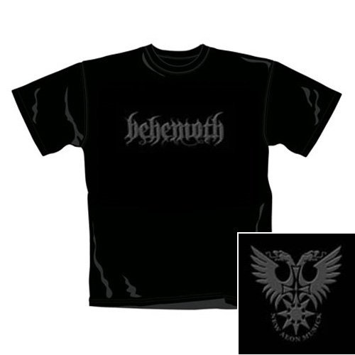 T Shirt Behemoth Con Logo (Nero) - Large