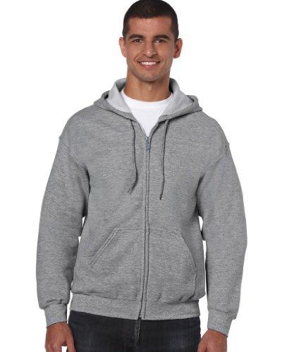 Gildan Heavy Blend Erwachsenen Kapuzen Sweatjacke 18600 XXL, Sport Grey (Gildan Sport-grey)