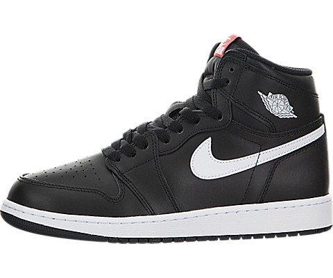 Nike Jungen Air Jordan 1 Retro High OG BG Basketballschuhe, Black (Black (Schwarz/Weiß-Schwarz-Uni-Netz)), 37.5 EU