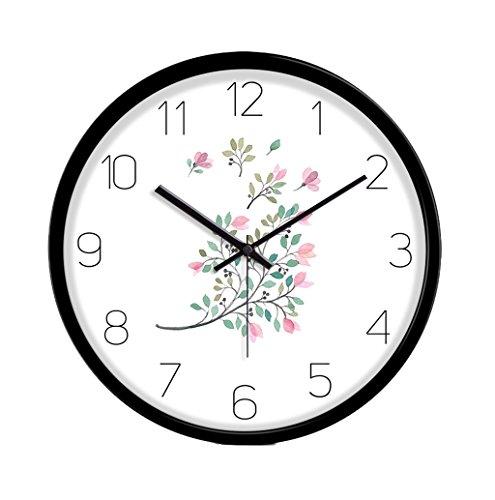 GXJ-wall clock Chang-dq Locker Room Silent Wanduhr, Bekleidungsgeschäft Cosmetics Store Optical Shop Restaurant Klassenzimmer Die Studie Wanduhr Metall Wanduhr 30.5-35.5CM Wanddekoration