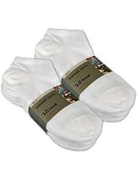 10 bis 100 Paar Sneaker Socken Baumwolle Damen & Herren Schwarz & Weiß - sockenkauf24
