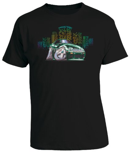 koolart-cartoon-caricature-style-of-misc-de-tomaso-mangusta-green-mens-t-shirt-black-xxx-large