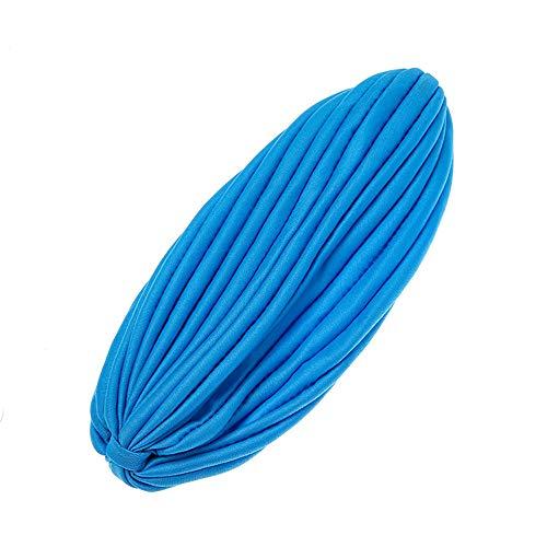 Amphia - Womens Hair Band Retro Elastic Band Mode dekorative einfarbig Baotou Hut - Breite: 13,5 cm
