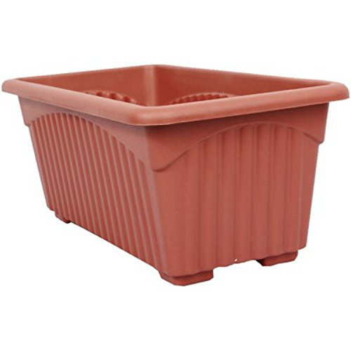 First Smart Deal Plastic Rectangle Pot (13-inch, Brown, Pack of 3)