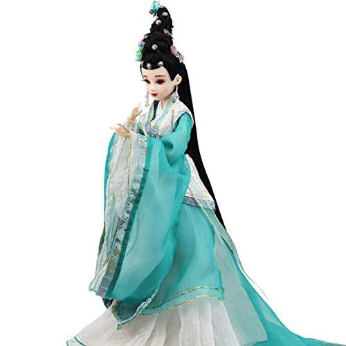 DoCori Muñeca China con Traje Antiguo, Muñeca Oriental para decoración del hogar, Muñeca de Seda Vestida para Hija, Nieta
