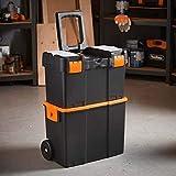 Generic Storage Box Mobile Shing Ta Tackle Storage Rolling Carrello olley Trunk Attrezzi da pesca Trunk