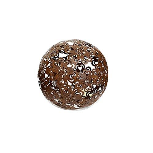Dekokugel Blüte 18,5 cm Metall Dunklebraun Gartenkugel Kugel