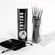 TOYZOS 12 Pcs of Fine Detail Brush Set Professional Acrylic Oil Watercolor Painting Miniature Paint Art Brush