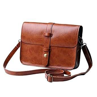 Sac à main, LHWY Femmes Lady sac à main en cuir sac Cross Body épaule sac (Marron)