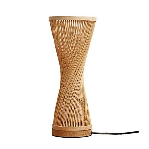 Bambú Lámpara de Mesa Japonesa Dormitorio Lámpara de Escritorio de la cabecera Estudio Lámpara de cabecera Decoración de Mesa Lámpara de Mesa Lámpara de Mesa de Noche (Color : A)
