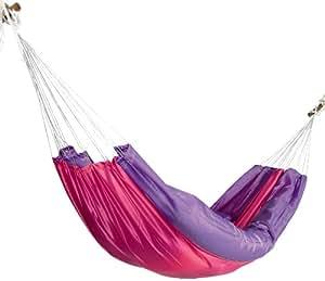 Jobek 017704 Travel Set Hamac Toile Parachute + Kit de Fixation Lilas Violet 350 x 140 cm