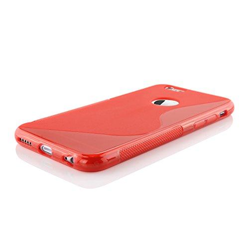 iPhone 6 / 6s Coque, Urcover Backcase S-Line Housse Apple iPhone 6 / 6s TPU Antichoc Bleu avec trou Téléphone Étui Cover Case Rouge avec trou