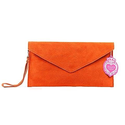 Aossta , Pochettes femme - Orange - orange,