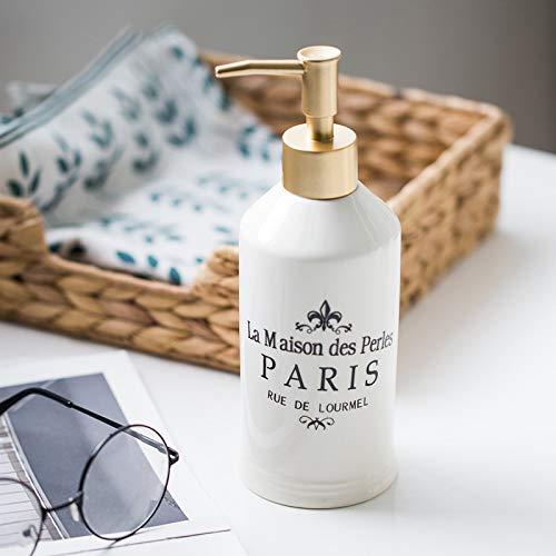 Amgend Nordic Keramik Emulsion Unterflasche Leere Flasche Hotel Club Handdesinfizierer Duschgel Shampoo Conditioner Flasche, Französische Paris Keramikflasche -