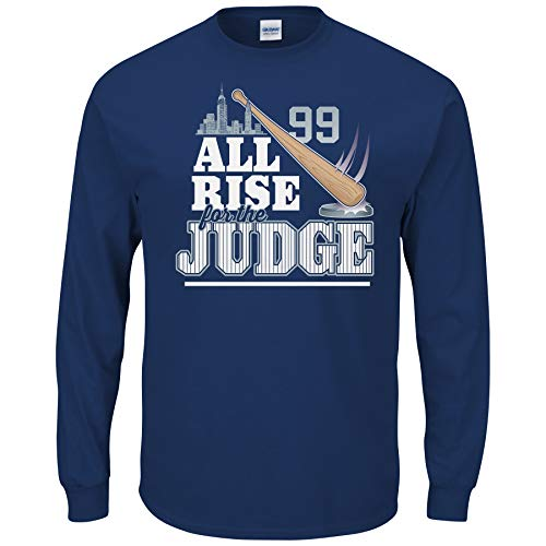Nalie Sports New York Baseball-Fans. All Rise for The Judge T-Shirt, Gr. S - 5X, Marineblau, Jungen, Navy, X-Large - Youth S/s T-shirt