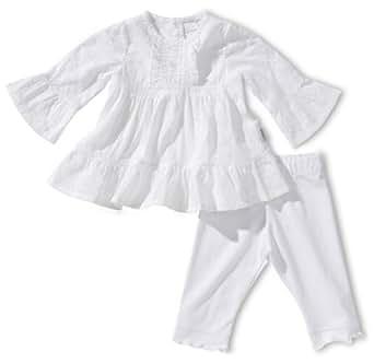 Stummer Baby - Mädchen Bekleidungsset 15095, Gr. 68, Weiß (001 white)