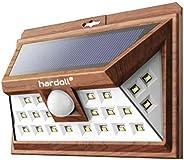 Hardoll® 24 LED Solar Light for Home Garden Motion Sensor Outdoor Solar Lamp (Wood Finish)