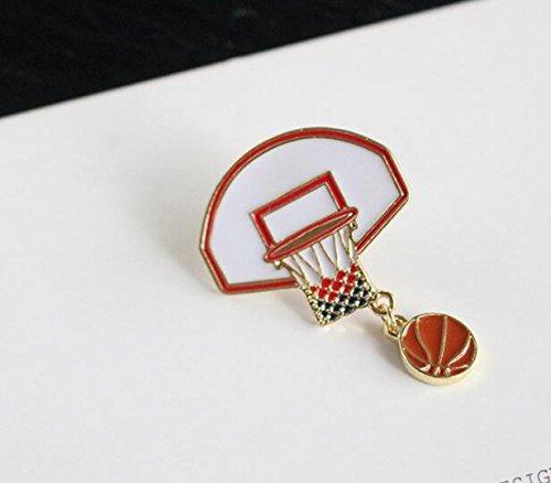 eug Lernspielzeug für Kleinkinder Neuartige Basketball Box Brosche Button Button Kleidung Zubehör Jungen Mädchen Ornamente Schmuck ()