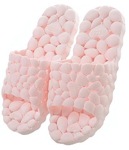 Happy Lily d'évacuation rapide de salle de bain Mule doux à enfiler Chaussons Antidérapant Douche Sandales de plage Slide Chaussures de piscine, rose
