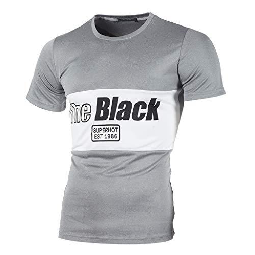 Camiseta Divertida para Hombre,ZARLLE Hombres Impresión de Carta Camisetas Camisa Camiseta de...