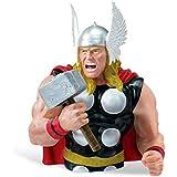 Thor- Hucha-Los vengadores- Figura para coleccionistas para fans de Marvel Comic- Busto 20cm-Plástico