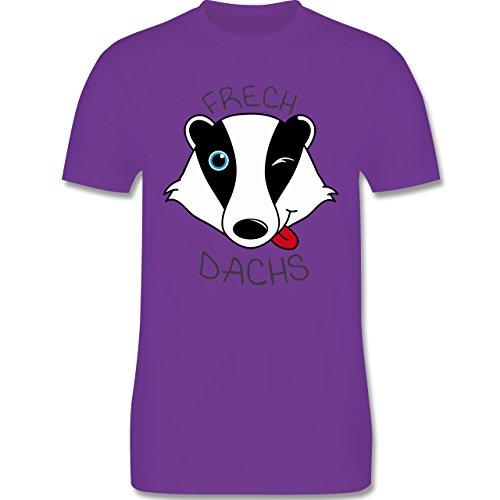 Statement Shirts - Frechdachs - Herren Premium T-Shirt Lila