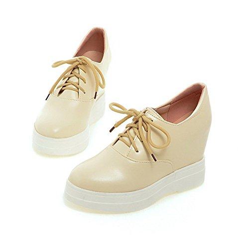 Adee solide en polyuréthane pour femme à lacets Pompes Chaussures Beige - beige