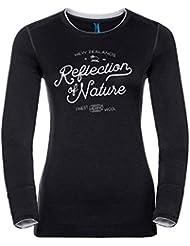 Odlo Damen Natural 100 Merino Warm Baselayer Shirt with Print T-Shirt