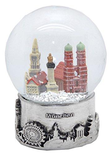 Wahrzeichen Collection (Minium Collection 30050 Souvenir Schneekugel München Skyline Silber Sockel - 80mm)