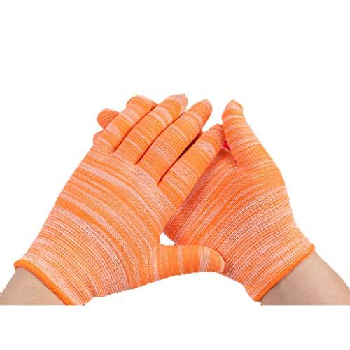 Qivor Handschuhe Schwere Latexhandschuhe Schutzhandschuhe Arbeitshandschuhe Bautechnik Arbeitshandschuhe Beschichtung Nylon-Arbeitshandschuhe Chemikalienbeständige Handschuhe (Color : Orange) -