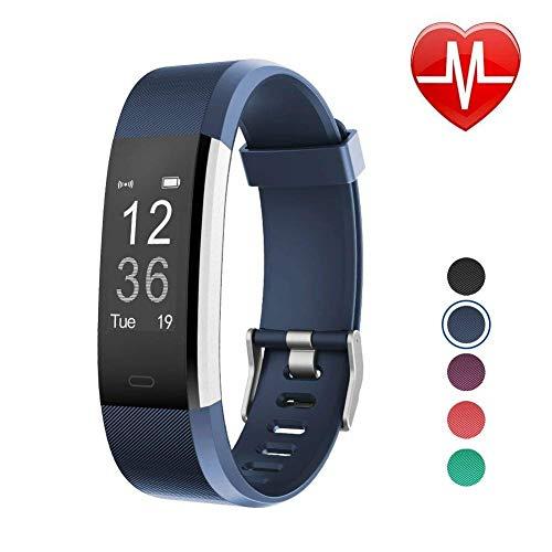 fqfq fitness tracker hr, orologio con cardiofrequenzimetro, braccialetto intelligente impermeabile con contapassi, contacalorie, contapassi, orologio per bambini, donne e uomini