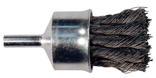 PFERD 83080 Bürste für Vorbau, Drahtkopf, Rundschaft, Kohlenstoffstahl-Borste, 2,5 cm Durchmesser, 0,2 cm Draht, max. 20000 U/min, 0,6 cm Schaftdurchmesser -