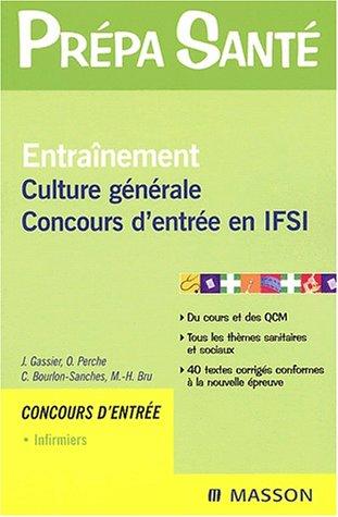 Entraînement culture générale : Concours d'entrée en IFSI