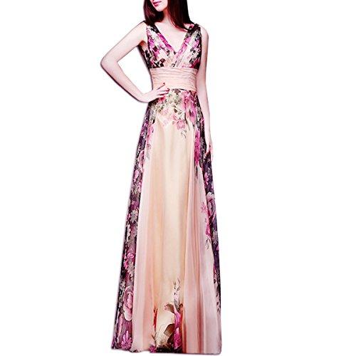 6867ce14910d KAXIDY Vestito Fiore Donna Vestiti da Sera Eleganti Vestito da Sera Lungo  Abiti da Cocktail Abiti da Sera (XX-Large)