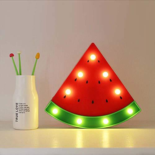 PDDXBB Nachtlicht Wassermelone Wandleuchten Led Nachtlicht Für Kinderzimmer Batterie Nachttischlampe Kunststoff Party Dekoration Licht Rot 26 * 23 * 3,5 cm -