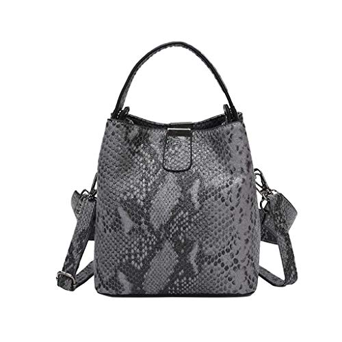 New Womens Snake Pattern Square Schulter Fashion Wilde Schulter Messenger Bags für Travel Gym Sports