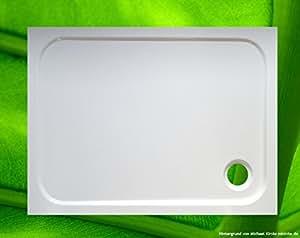 Receveur de douche 100 x 100/75 x 75 receveur rectangulaire duschbadewanne 100 x 75 x 2,5 cm