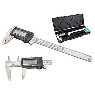 logei® Digitaler Messchieber Schieblehre Tiefenmesser Profiltiefenmesser Reifenprofil digital caliper, Edelstahl, 0 - 150mm