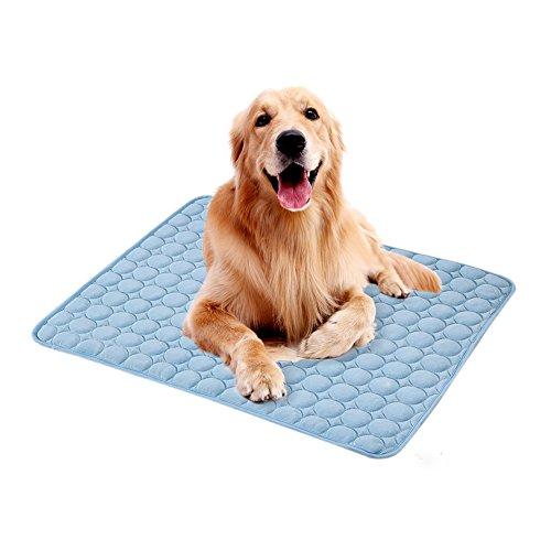 Bloomma tappetino rinfrescante, tappeto di seta per il raffreddamento dell'animale domestico non tossico,sicuro e confortevole,perfetto per casa,seggiolini auto,casse e letti