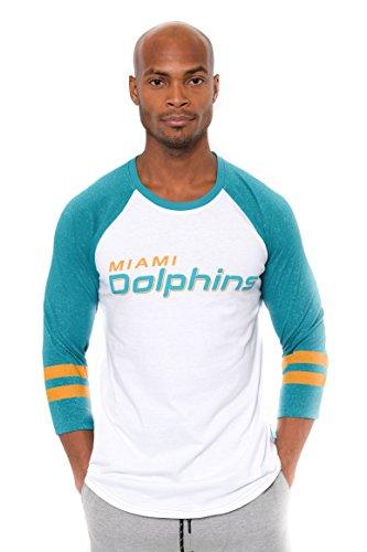 Icer Marken Erwachsene Herren L/S Tee W NFL Lange Ärmel Team Logo Raglan T-Shirt, JTM2093A-MD-Large, Lgm, Large -