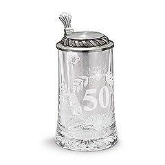 Idea Regalo - Artina 93372 - Boccale da birra per celebrazione dei 50 anni