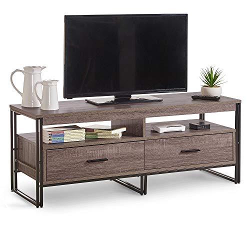 Rustikaler Schrank (VonHaus Rustikaler Fernsehtisch mit 2 Schubladen - TV-Möbel/Fernsehschrank/TV - Schrank/Kaffeetisch/Lowboard - Möbel für Wohnzimmer)