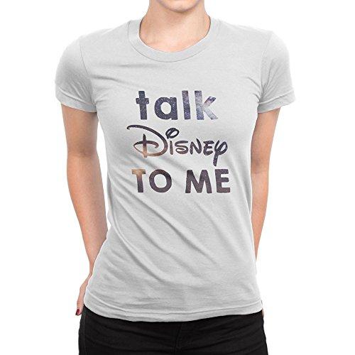 Talk Disney To Me Womens T-Shirt Funny Pixar Fan Present Gift Quote Birthday