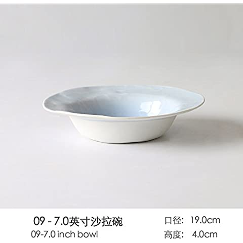 Personalità Creative Western posate home-piatto blu Pack Western vassoio del disco Zuppa Insalata ciotola. Disco di pesce ,26,5*2.3cm,6 ,09 pezzo)
