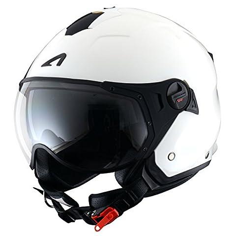 Astone Helmets Casque Jet Mini Sport, Blanc Brillant,
